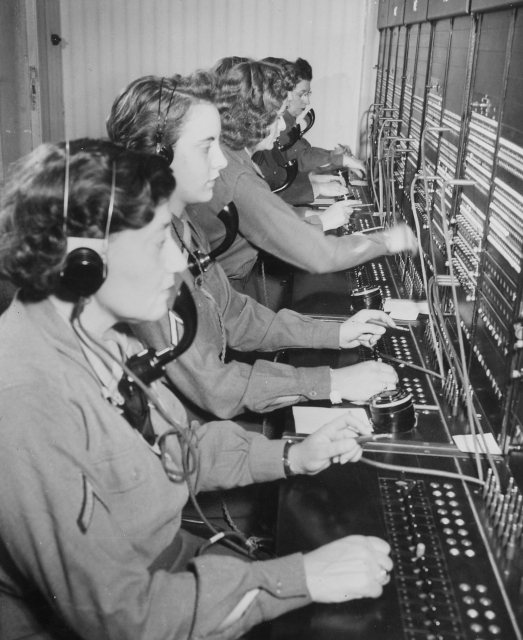 WAC telephone operators operate the Victorys switchboard during the Potsdam Conference