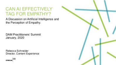 Can Artificial Intelligence Effectively Tag for Empathy? A Presentation by Rebecca Schneider.